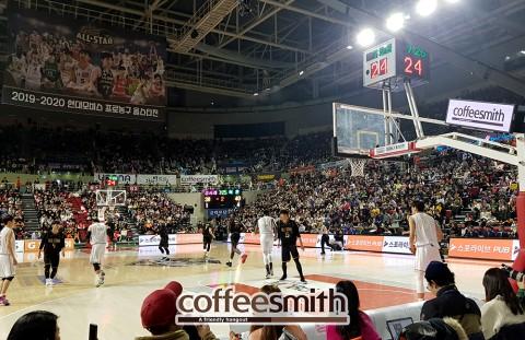 커피스미스, 별들의 잔치 '프로농구 올스타전'에서 활발한 소통