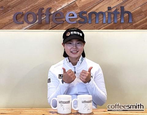프로골퍼 임희정, 커피스미스 로고 붙이고 LPGA 경기 출전